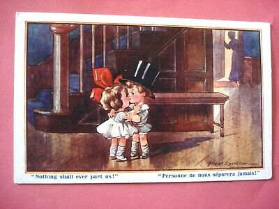 ANTIQUE  POSTCARDS. BY INTER-ART-Co.  TINY TOT'S  SERIES. ARTIST FRED SPURGIN. • 7.99£
