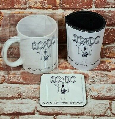 £18.51 • Buy Brand New Genuine AC/DC Flick Of The Switch 11OZ Coffee Mug Can Cooler Coaster
