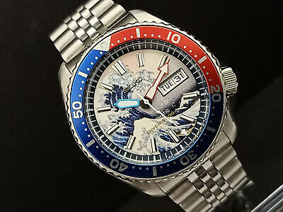 $ CDN82.87 • Buy Seiko Diver 7s26-0020 Skx007 The Great Wave Of Kanagawa Automatic Watch 781236