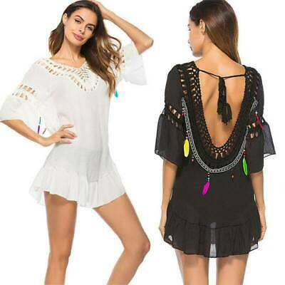 AU17.47 • Buy Womens Lady Swimwear Bikini Cover Up Beach Wear Kaftan Sarong Loose Mini Dress