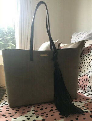 AU500 • Buy Saint Laurent YSL SUEDE TOTE WITH LEATHER TASSLE