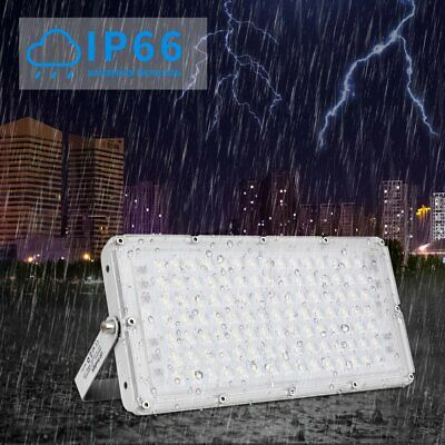100W LED Security Floodlight Indoor Outdoor Flood Light Garden Street Lamp IP67 • 15.68£