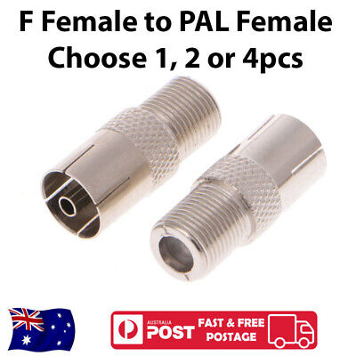 AU3.35 • Buy F-Type Female To PAL Female Socket Coaxial TV Antenna Cable Connector Adapter