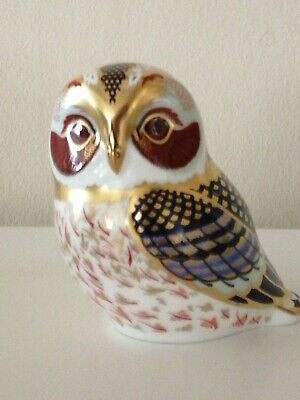 Royal Crown Derby Paperweight 2002 Tawny Owl Gold Stopper • 16£