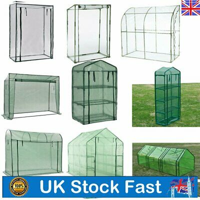 Greenhouse PVC Outdoor Garden Grow Bag Green House With Shelves Walk-in House UK • 37.39£