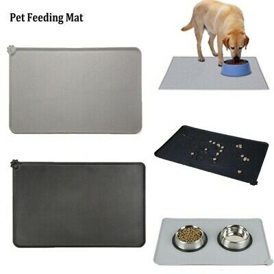 £5.49 • Buy Cat Bowl Mat Dog Pet Feeding Water Food Dish Tray Wipe Clean Floor Placemats