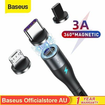 AU13.99 • Buy Baseus Fast Charging Cable Magnetic Charger USB Lighting Type-C Micro Data Cord
