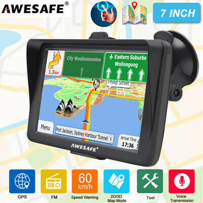 AU83.99 • Buy 7 INCH AWESAFE GPS Navigation Portable Navigator With Australia Map Sunshade