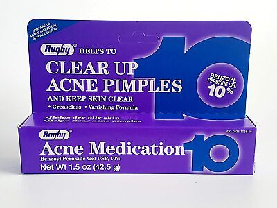 Rugby 10% Benzoyl Peroxide Acne Medication Cream Gel SAME DAY DISPATCH Exp 11/21 • 10.20£