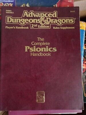 AU16.50 • Buy Advanced Dungeons And Dragons 2ND Edition Psionics Handbook