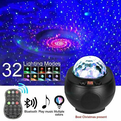 £17.99 • Buy Led Galaxy Projector Night Light Ocean Wave Music Starry Star Projector Lamp LED