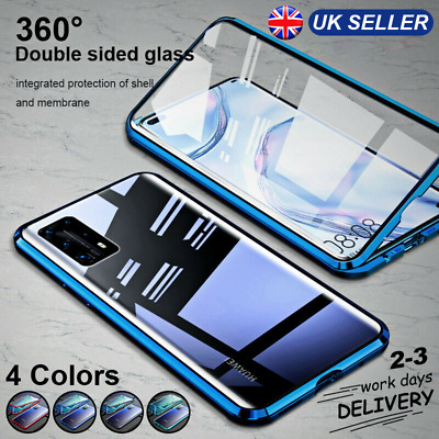 360 °Case For Hauwei P40 P30 Pro Lite Magnetic Adsorption Tempered Glass Cover • 8.99£