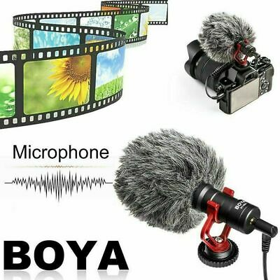 BOYA BY-MM1 3.5mm Microphone Condensor Video Mic For IPhone Samsung Cell Phone • 19.55£