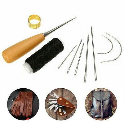 Portable Curved Sewing Needle Knitting Durable Hand Repair Yarn Leather Canvas • 4.39£