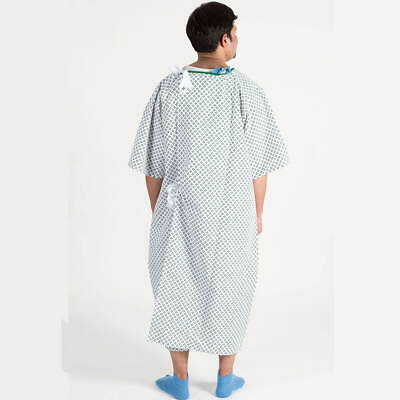 Bariatric Hospital Patient Gown Blue Diamond Print Polycotton 4XL As Used By NHS • 23£