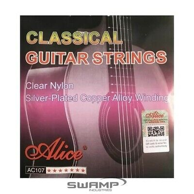 $ CDN6.11 • Buy Alice AC107 Classical Guitar Strings Set Nylon 28-43 Silver-Plated Copper Alloy