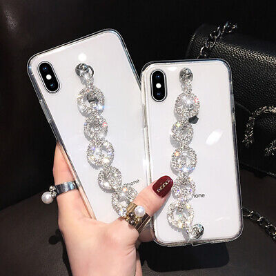 AU16.58 • Buy For IPhone 12 11 Pro XS Max XR 7 8 6 Girls' Clear Case Cover W/ Diamond Strap