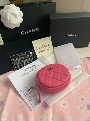 AU690 • Buy  chanel 20s Pink Caviar  Round Coin Purse - Stunning ! Bargain Price