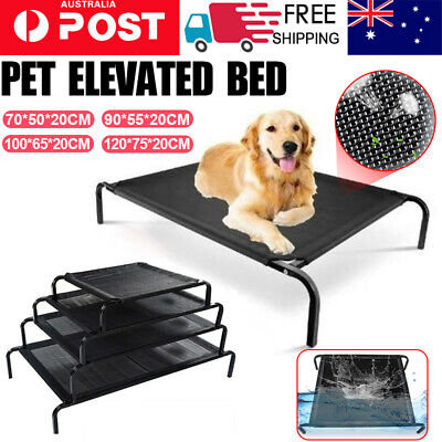 AU25.90 • Buy Black Pet Bed Dog Heavy Duty Trampoline Hammock Canvas Cat Puppy Cover S-XL 2021