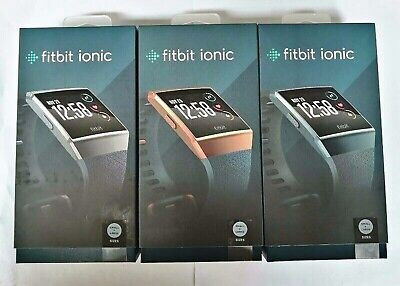$ CDN117.29 • Buy Fitbit Ionic GPS Smart Watch-Large And Small Size Bands Fitness Activity Tracker