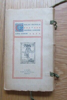 Lord Byron Childe Harold PaperCover S. Rosen Publisher Venice C1900 • 24.99£