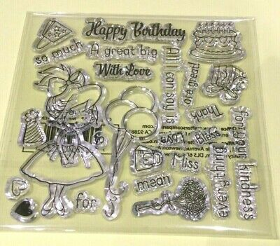 Crafters Companion~HAPPY BIRTHDAY MIXED Stamp Set COLLECTION~ Clear Stamp~NEW  • 5.50£