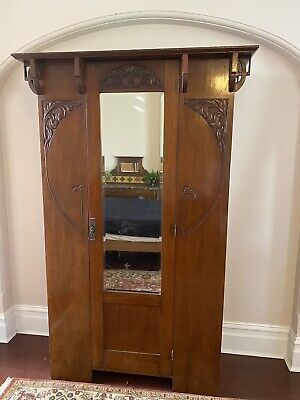 AU250 • Buy Arts And Crafts Antique Oak Wardrobe