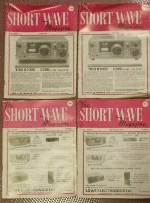 The Short Wave Magazine,4 Issues From 1980- April-May-August And September • 10£
