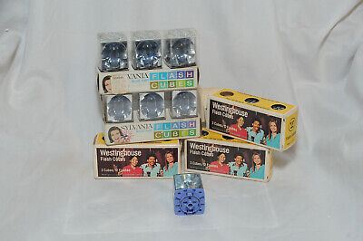 $12.50 • Buy Lot Of Vintage Sylvania & Westinghouse Flash Cubes 5 Boxes 15 Count 60 Flashes