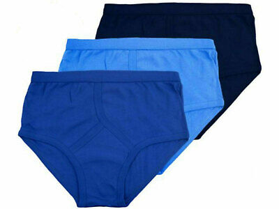 New Mens 3,12 Pairs Y Fronts Underwear Briefs 100% Cotton Interlock Size S-2XL • 5.99£