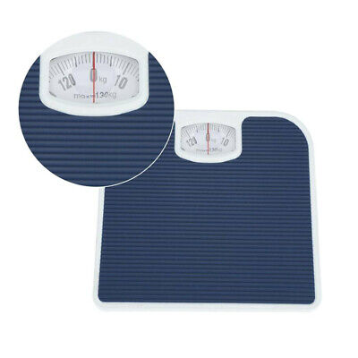 Bathroom Scale Weighing Body Weight Mechanical Home Lose Fat Dial Blue 130KG UK • 12.55£