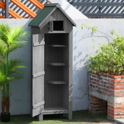 6ft Garden Shed Slim Wooden Outdoor Tool Storage Sheds Small House Lockable Door • 189.95£