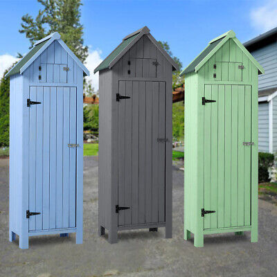 XL Wooden Outdoor Storage Garden Shed House Beach Hut Style Tool Room Sentry Box • 189.95£