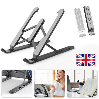 Portable Laptop Stand Foldable Base Stand Holder For Macbook HP Dell - UK • 9.50£