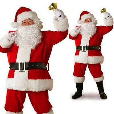 £19.99 • Buy Mens Santa Claus Full Costume Festive Father Christmas Xmas Fancy Dress Outfit