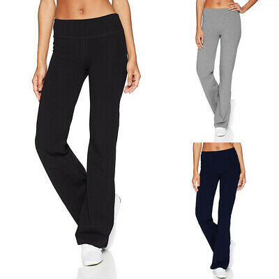 AU17.35 • Buy Women Casual Slim Hips Loose Gym Yoga Long Pants Sports Wide Leg Trousers