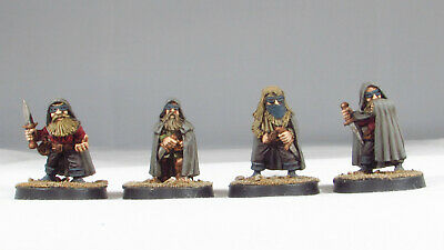 Set Of 4 Pre-Painted Dwarf Rangers. 28mm Scale. Midlam Miniatures • 45£