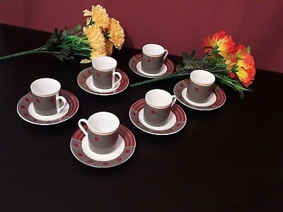 French Tea Set, Cups And Saucers  • 12.99£