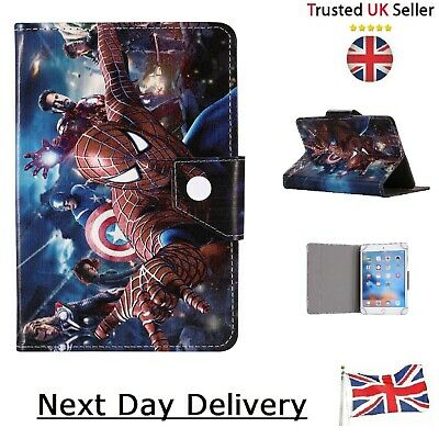 AU17.81 • Buy Tablet Case Superhero Cover For Tab 7   8   9.7   10   Inch Spiderman & Avengers