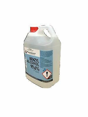 AU137 • Buy 5 L BENZYL ALCOHOL 99.6% PHARMACEUTICAL GRADE  USP (UNDILUTED) Fast Postage