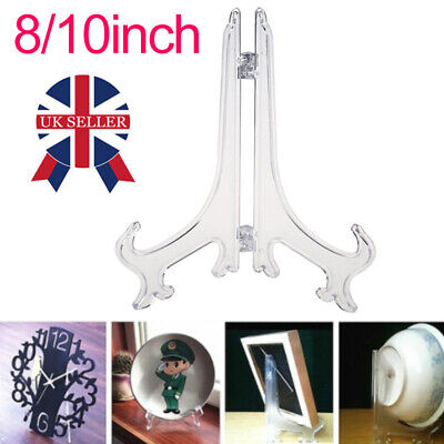 Decorative Plate Holder Display Stand Easel Picture Frame Ornament Mount Plastic • 2.95£