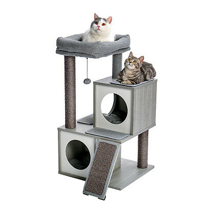 AU115.50 • Buy  Cat Tree Multi-Level Tower Furniture With Spacious Perch  Sisal Scratching Post