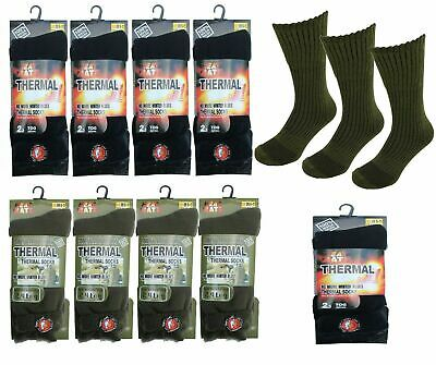 £4.99 • Buy Thermal Heat Mate Socks For Men'Thick Warm Winter Chunky 2.3Tog & Long Military