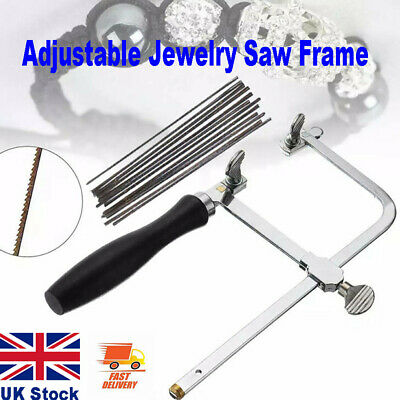 Adjustable Jewellers Piercing Saw Frame Jewellery Making Tool & Saw Blades UK • 7.37£