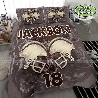 American Football Custom Personalized Name Number Duvet Cover Bedding Sets Gifts • 54.81£
