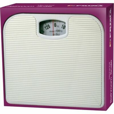 Mechanical Bathroom Scales Dial Weighing Scale Body Weight White 130kg Weighting • 9.99£