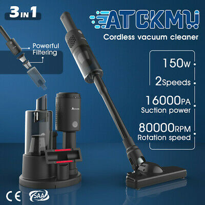 AU79.90 • Buy 3in1 Handheld Vacuum Cleaner Cordless Stick Handstick Bagless Recharge 2 Speeds
