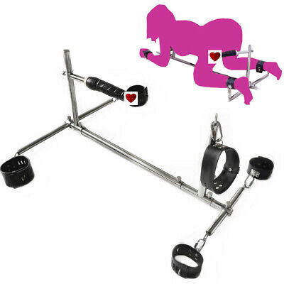 Steel Frame Spreader Bar With Plug Hand Ankle Collar Cuffs Restraint Slave Rack • 83£