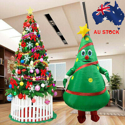 Christmas Tree Inflatable Clothes Costume Cosplay Blowup Party Carnival Play • 21.92£