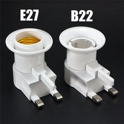 1/3/6 E27 Bulb Socket Holder Screw Base Light Lamp Adaptor UK Plug Wall Plug In • 7.99£